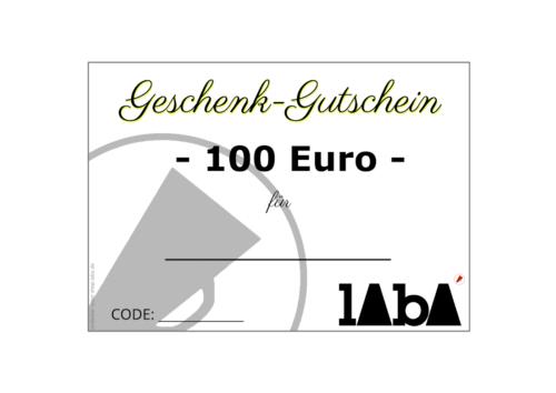 LABA Gutschein 100 Euro
