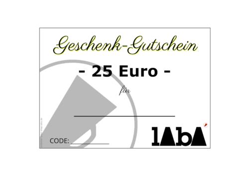 LABA Gutschein 25 Euro